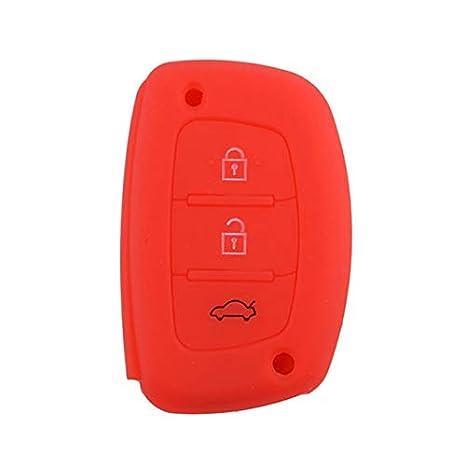 Amazon.com: Llavero de silicona con 3 botones para Hyundai ...