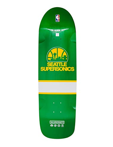 (Aluminati Skateboards NBA Seattle Supersonics Retro Cruiser Deck)