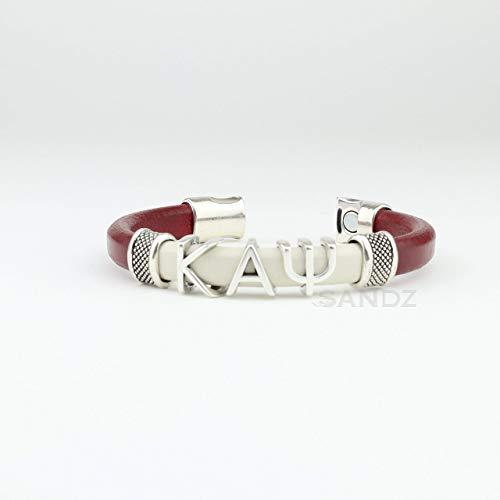 (Kappa Alpha Psi Leather bracelet -