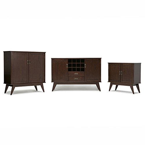 Simpli Home Draper Mid Century Solid Hardwood Storage Cabinet, Medium, Auburn Brown by Simpli Home (Image #4)
