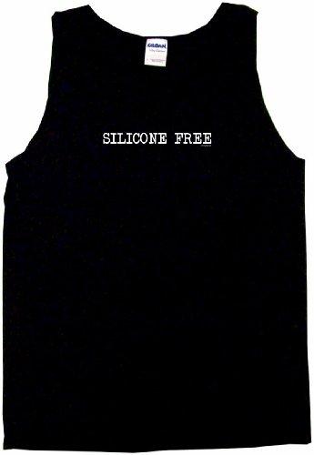 Silicone Free Men's Tee Shirt Medium-Black Tank Top