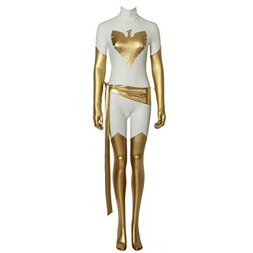 (CosplayDiy Women's Suit for Dark Phoenix Jean Grey Cosplay Costume White)