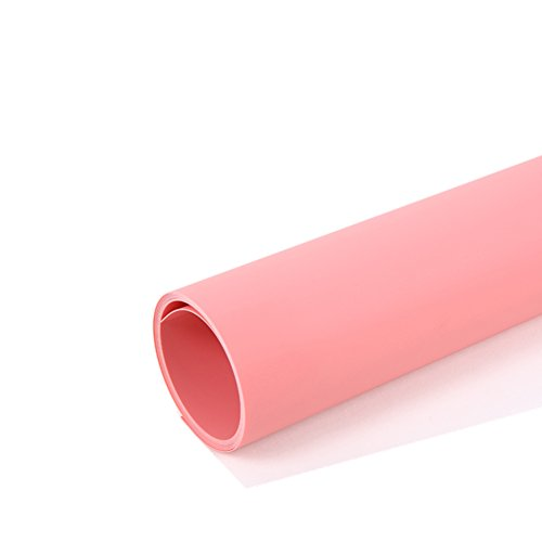 Elviros 24x43in [60x110cm] Seamless Water-proof PVC Backdrop Background Paper for Photo Video Photography Studio - Pink