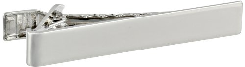 Status Men's Tie Bar Plain Smooth, Silver, One Size by Status