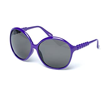 f373edaabf1a MUK Women's Peggy Sunglasses Purple Frame with Smoke Lens MUK107772 One Size