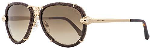 Roberto Cavalli RC885S Mebsuta Sunglasses Brown Leather w/Brown Gradient (28G) RC 885 28G 57mm ()