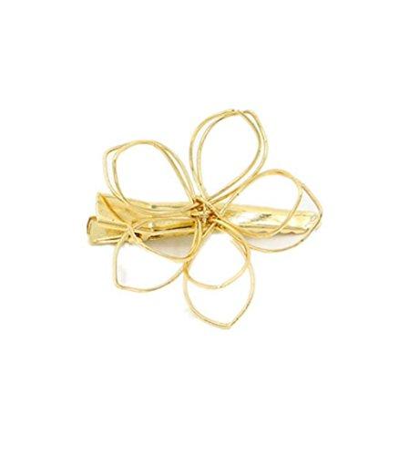 Creux Fleurs Pince à cheveux Épingle à cheveux Pate Boddy Couvre-chef Bijoux de la tête de tête (2 pièces)