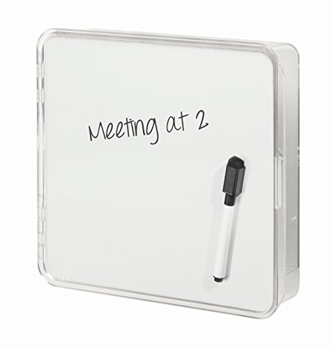 InterDesign 51240 Linus Entryway Wall Mount Key Holder and Dry Erase Board, Storage Organizer for Hallway or Entryway,...