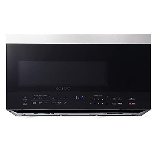 Cosmo COS-3016ORM1SS Over the Range Microwave Oven with 1.6 cu. ft. Capacity and Vent Fan, 1000W, 30 inch, Black