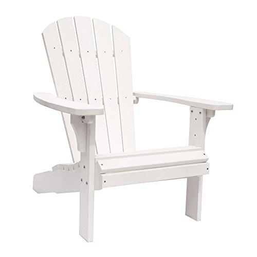 - Shine Company 7618WT Royal Palm Adirondack Chair, White