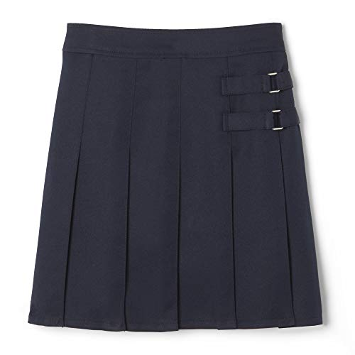 - French Toast Little Girls' Two-tab Pleated Scooter, Navy, 5