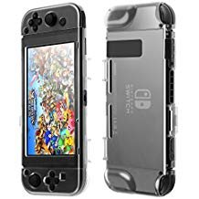 Nintendo Switch Case,XGUO Full Body Protector Hard Cover for Nintendo Switch(Frosted Clear)