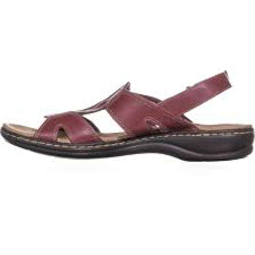 CLARKS Womens Leisa Skip Leather Open Toe Casual Slingback, Brick, Size 9.0 from CLARKS