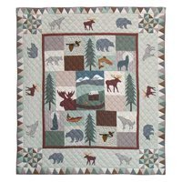 Patch Magic Twin Mountain Whispers Quilt, 65-Inch by 85-Inch by Patch (Mountain Whispers Quilt)