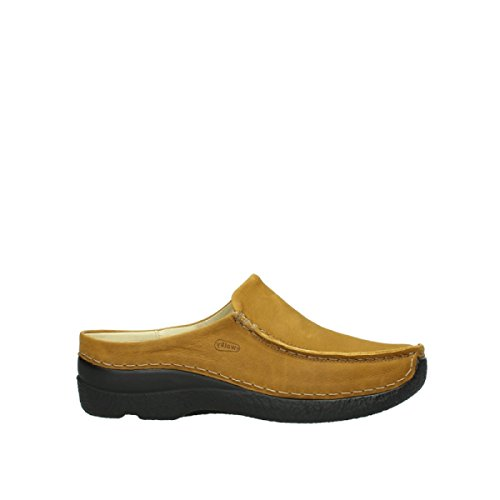 Wolky Slide Curry Roll 6250 Seamy Nubuck Slippers 11932 Oiled HHTqvP1