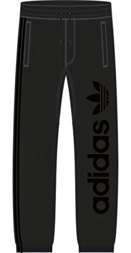 adidas Originals Mens Skateboarding Blackbird Sweatpants, Black, L
