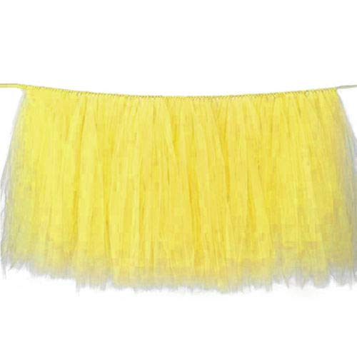 FidgetGear Tulle Tutu Table Skirt Tableware Wedding Party Xmas Baby Shower Decor Gift Yellow from FidgetGear