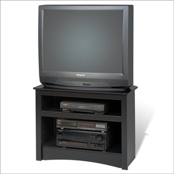 Amazon Com Black 32 Corner Tv Stand For Flat Screen Or Crt Tvs
