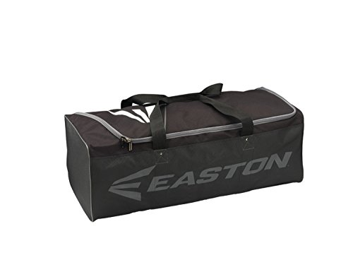 EASTON E100G Equipment Bag | Baseball Softball | 2020 | Black | For Teams & Coaches | Large Compartment with Lockable Zipper | Fits Two Full Sets of Catchers Equipment | Reinforced Carry Straps