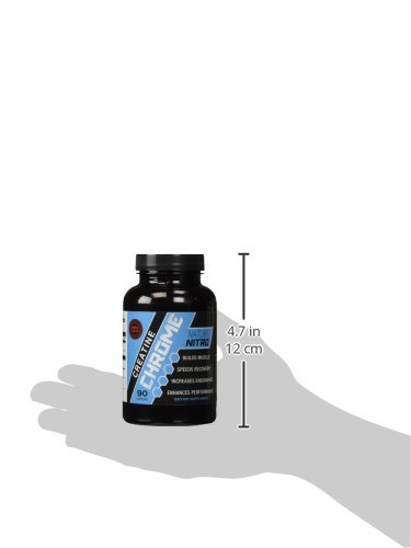 """Naturo Nitro Creatine Chrome with Magnapowerâ""""¢ - Rapid Muscle Gain, Increased Muscle ATP and Cell Volumization, 90ct, 30 Day Supply"""