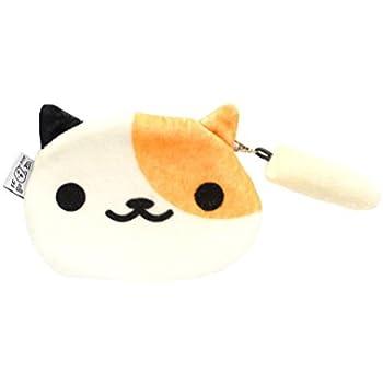 Rain s Pan Anime Neko Atsume Cat Backyard Cosplay Plush Zipper Coin Bag  Wallet Purse 0786551f8c1b0