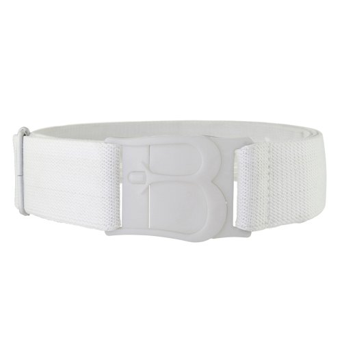 Beltaway Flat Buckle No Show Adjustable Belt, The Virtually Invisible Belt (One Size (0-14), White)