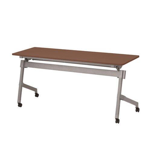 TOKIO NTTホールディングテーブル 棚付 パネル無 W1500×D600×H720mm NTT-1560 ダークウッド B07652T3L5 ダークウッド ダークウッド