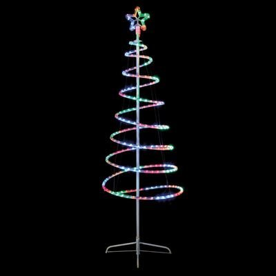 Multi coloured led rope light spiral tree and star amazon multi coloured led rope light spiral tree and star aloadofball Gallery