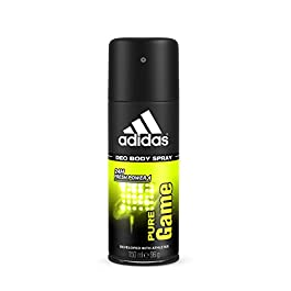 Adidas Male Personal Care Pure Game Body Spray, 4 Fluid Ounce