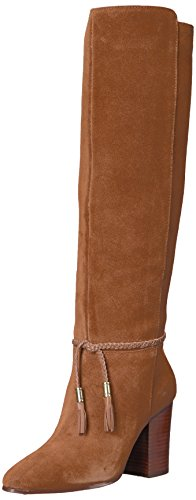 Aerosoles Women's Square Foot Knee High Boot, Dark Tan Suede, 8.5 M US - Tall Brown Suede Boots