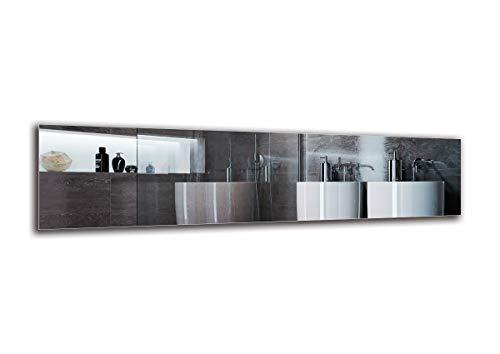 Espejo Standard - Espejo sin Marco - Dimensiones del Espejo 160x40 cm - Espejo de bano - Espejo de Pared - Bano - Sala de Estar - Cocina - Hall - M1ST-01-160x40 - ARTTOR