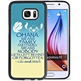 Lilo & Stitch Samsung Galaxy S7 Case, Onelee[Neverfade]Lilo & Stitch Samsung Galaxy S7 Case Black Soft Rubber TPU Anti Slip Drop Protection Case