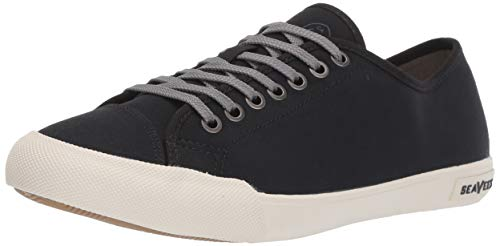 (SeaVees Men's Army Issue Low Standard Casual Sneaker, 10 D US, Black)