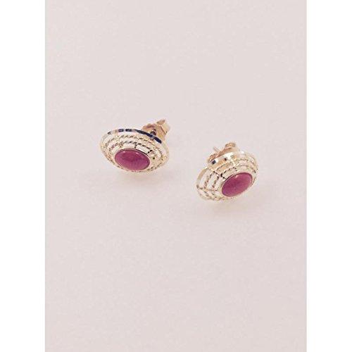 Boucles d'oreilles artisanal Femme orec106or jaune Corail