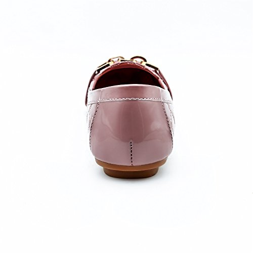 Nuevos De Coreana Madre Primavera Cuadrada Gran Zapatos Mujer Marea Tamaño Cabeza Planos Metal Rosado Hebilla Xiaoqi Iqfn5rqWxR