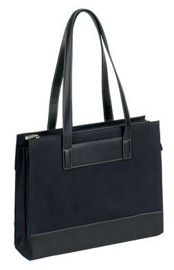 Bellino Leather Tote - BELLINO BLACK SUEDE / LEATHER TOTE BAG (BLACK)