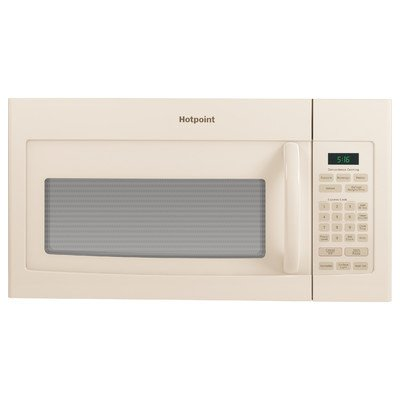 1.6 Cu. Ft. 1000W Over-the-Range Microwave Color: Bisque by Hotpoint