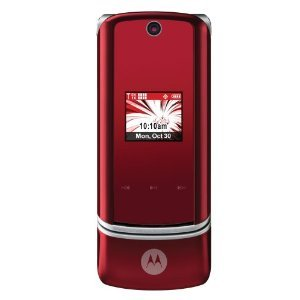 Verizon or PagePlus Motorola KRZR K1m 3G MP3 Bluetooth Red Cell - Krzr Verizon K1