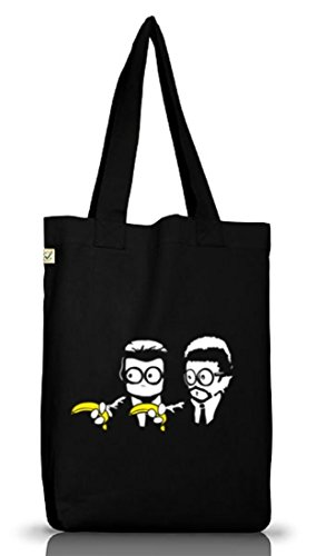 Shirtstreet24, Banana Shoot, Jutebeutel Stoff Tasche Earth Positive (ONE SIZE) Black
