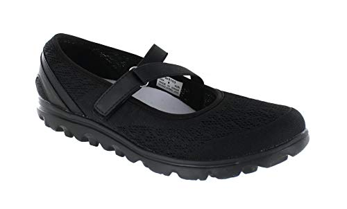 - Propet Women's TravelActiv Mary Jane Flat, All Black, 9 Medium