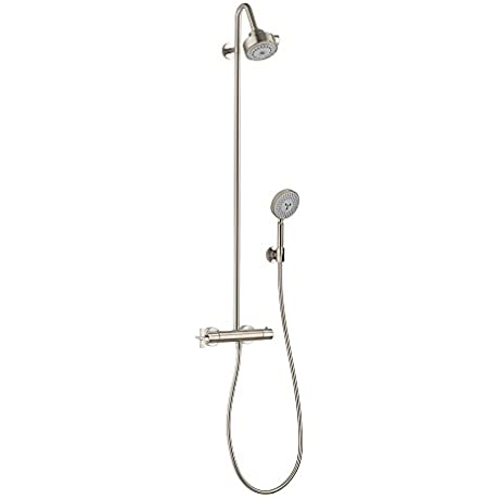 Hansgrohe 39739821 Axor Citterio Thermostatic Showerpipe Brushed Nickel