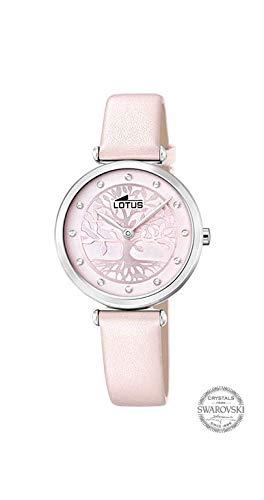 Con Para Mujer 18706 Analógico De Cuarzo Lotus Correa En Cuero Reloj 8nmv0wON