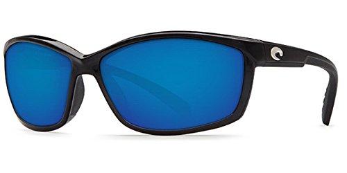 Costa Del Mar Manta 400G Manta, Shiny Black Blue Mirror, Blue Mirror