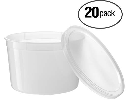 Top plastic container with lid 64 oz for 2019