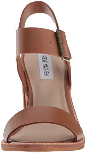 Castro Women's Madden Cognac Leather Steve Heeled Sandal 0RSwx4q