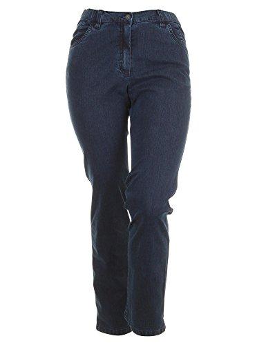 Jeans Betty Straight Leg in dunkelblau in Übergrößen (44L) von KJ Brand