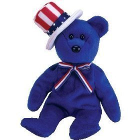 TY Beanie Baby - SAM the Bear (Blue Version)