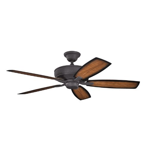 Kichler Lighting 310103DBK Monarch II Patio 52-Inch Wet Location Energy Star Ceiling Fan, Distressed Black Finish with Reversible Abs Blades by Kichler Lighting by Kichler Lighting