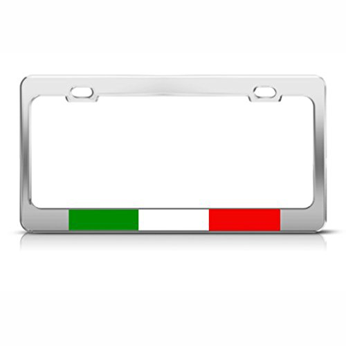 Italian Flag Italy Country Metal License Plate Frame Tag Holder