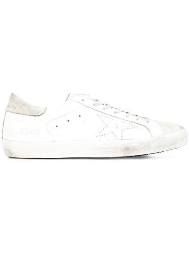 Golden Goose Mænd Gcoms590a5 Hvide Læder Sneakers V921NT